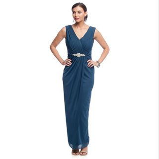 Alex Evenings Women's Long Evening Gown with Embellished Waist Detail and Shawl | Overstock™ Shopping - Top Rated Alex Evenings Evening & Formal Dresses