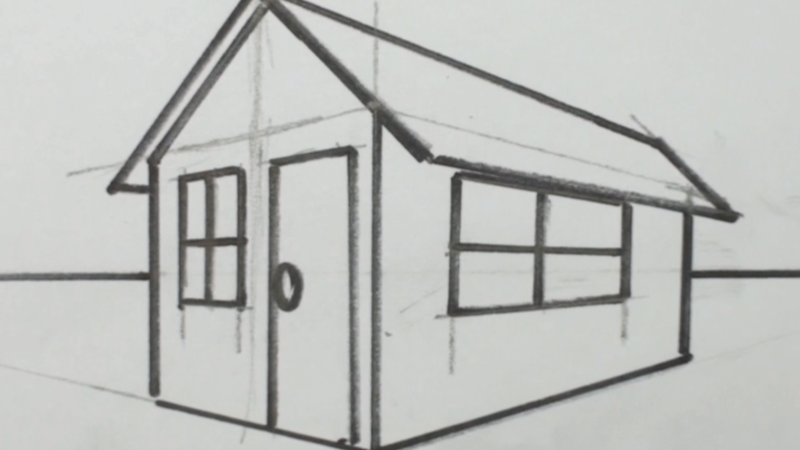 Marvelous How To Draw A 3D House