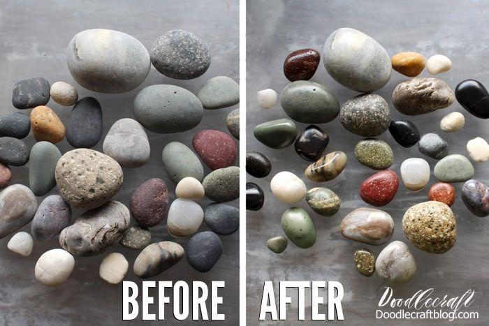 No Tumbler Polished Rocks Diy With Envirotex Lite Resin Spray Resin Spray Beach Rocks Crafts Diy Resin Crafts