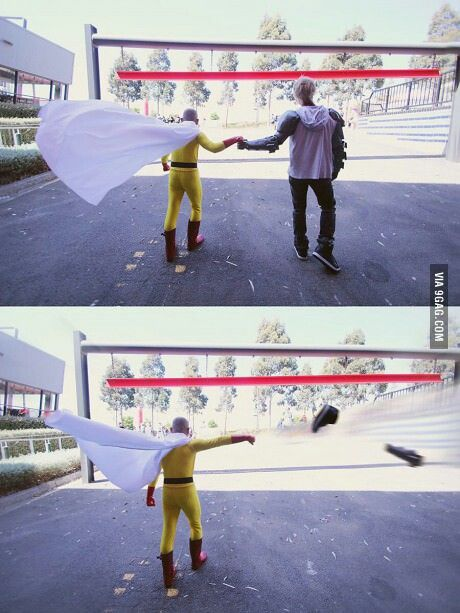 This is why it's a bad idea to give saitama a fist bump