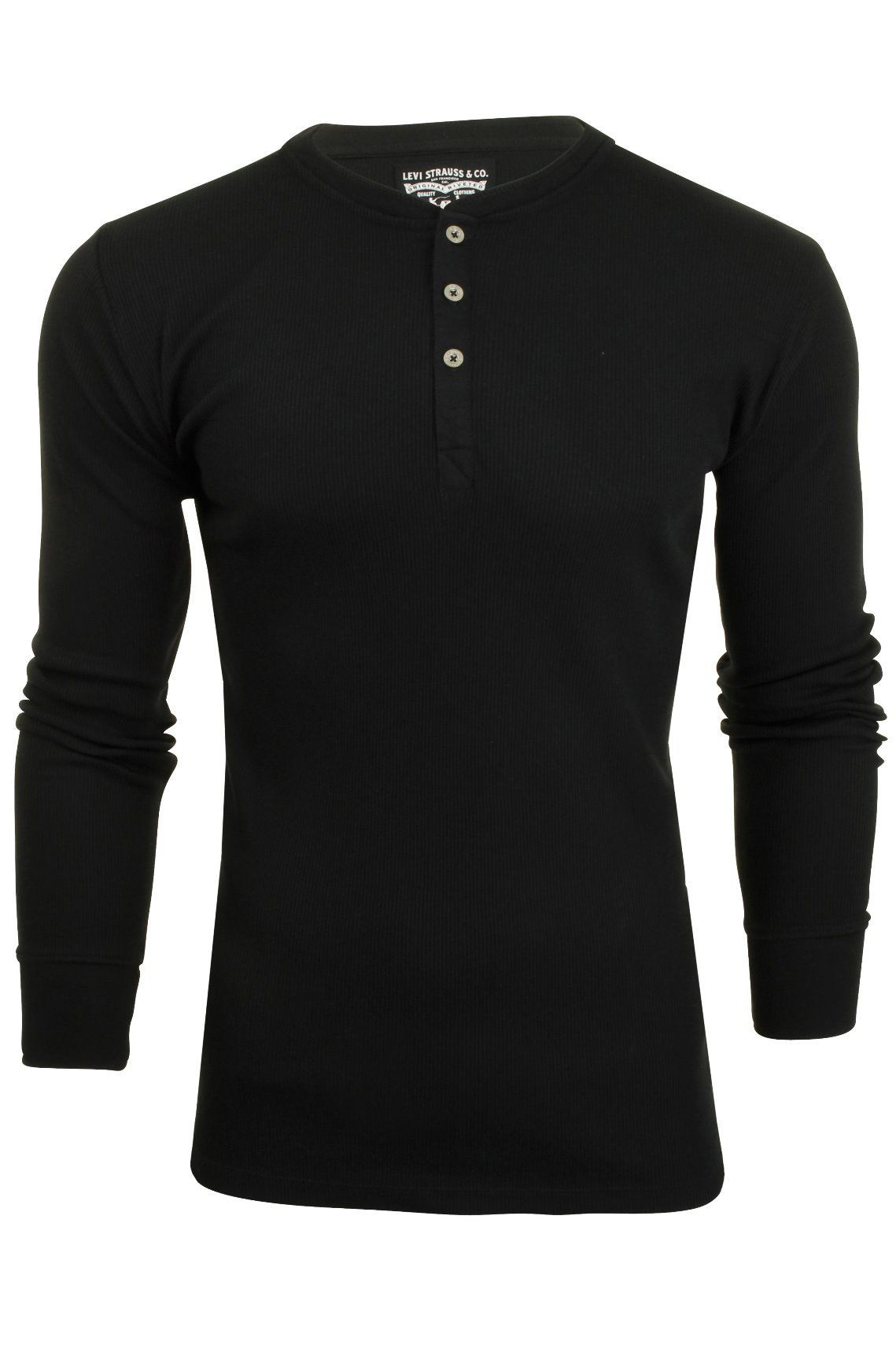 c78ee7463d5 Levi's Mens Grandad '300LS Henley' Rib Long Sleeved T-Shirt | Nomad ...