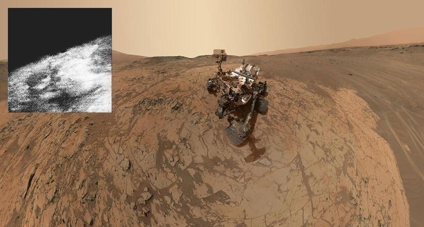 "CURIOSITY ROVER ON MARS SELFIE REPRINT 13/"" x 19/"" POSTER"