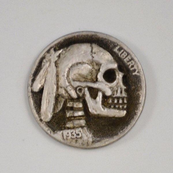 Pin de Michele Leifer en Skullz | Hobo nickel, Coins y Skull