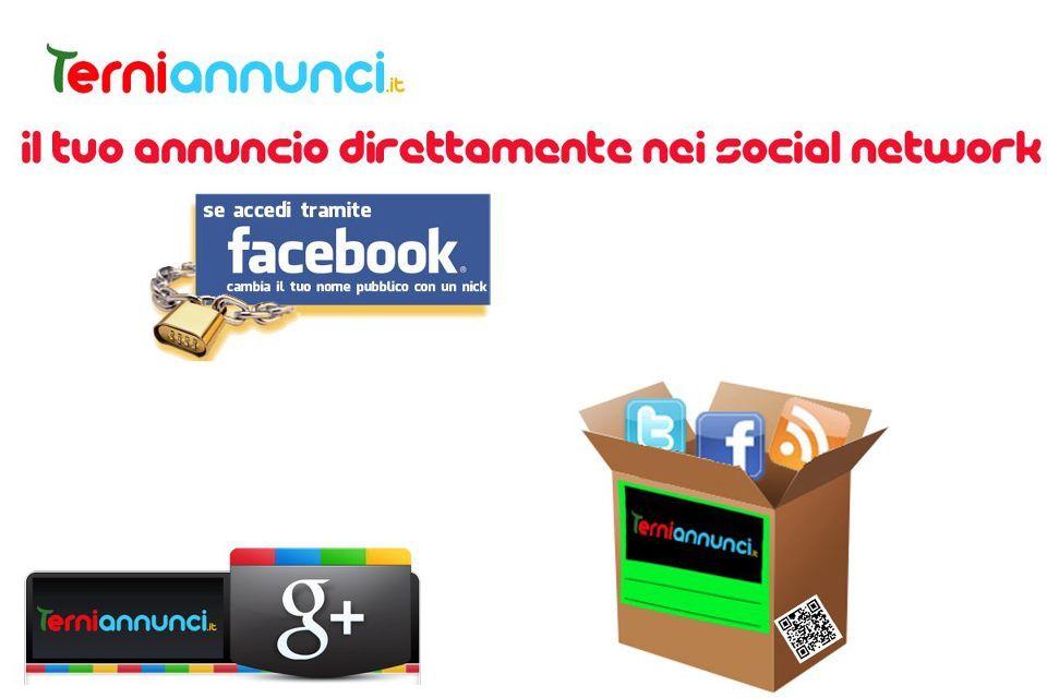 www.terniannunci.it IL TUO ANNUNCIO DIRETTAMENTE NEI SOCIAL NETWORK