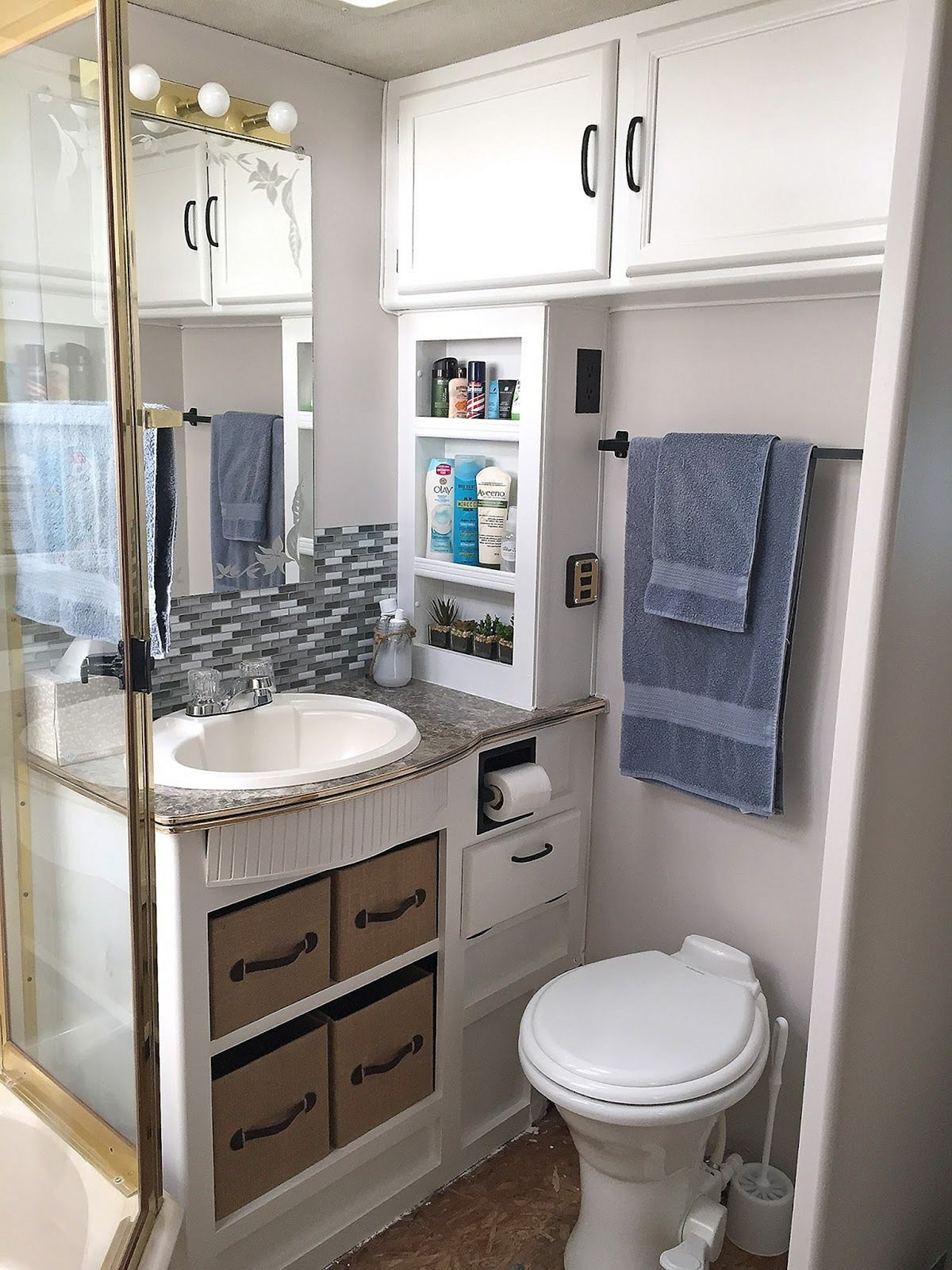 Top RV Bathroom Remodel With Before And After Picture Pinterest - Rv bathroom remodel
