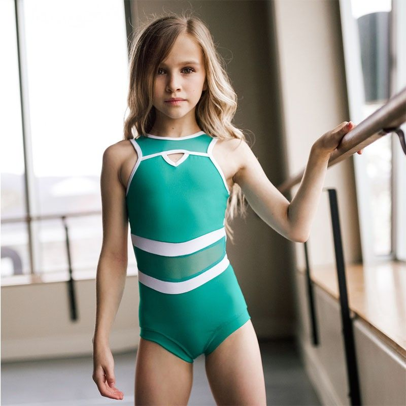 3e3fce7add48 The Coast 2 Coast leotard in Jade from Five Dancewear