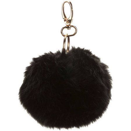 Under1Sky Large Pom Keychain, Black