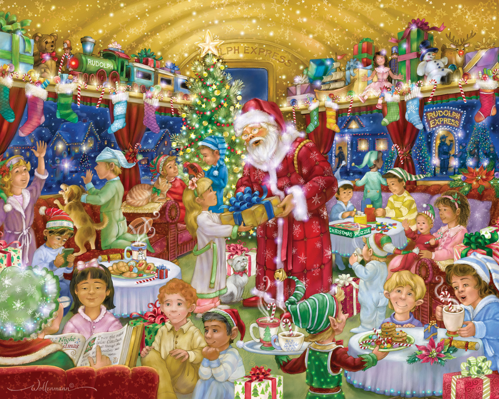 Christmas Eve 2020 Vt Rudolph Express, 1000 Pieces, Vermont Christmas Company   Puzzle