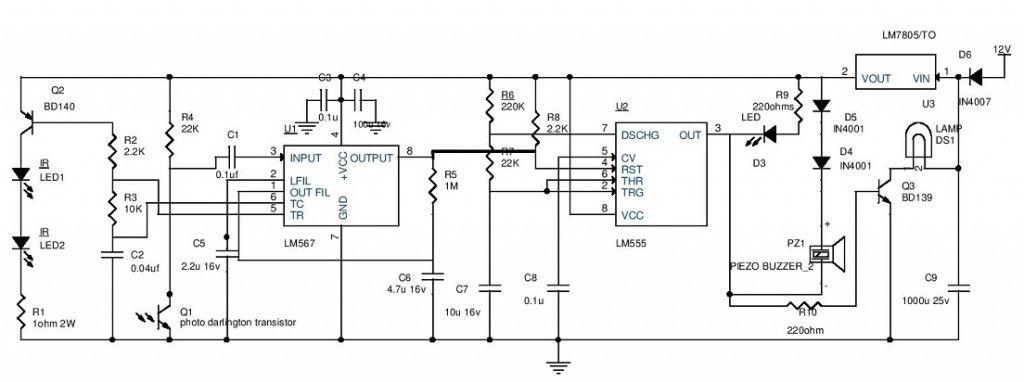 simple electronics mini projects circuit diagram