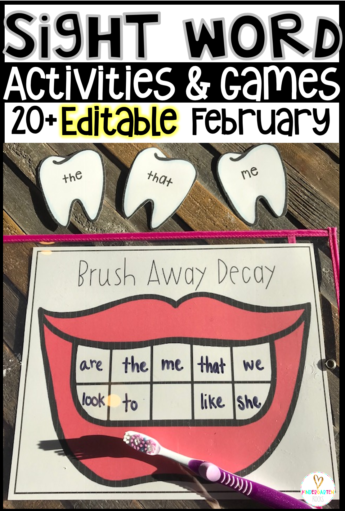 Valentine S Day Sight Word Games And Activities Editable February
