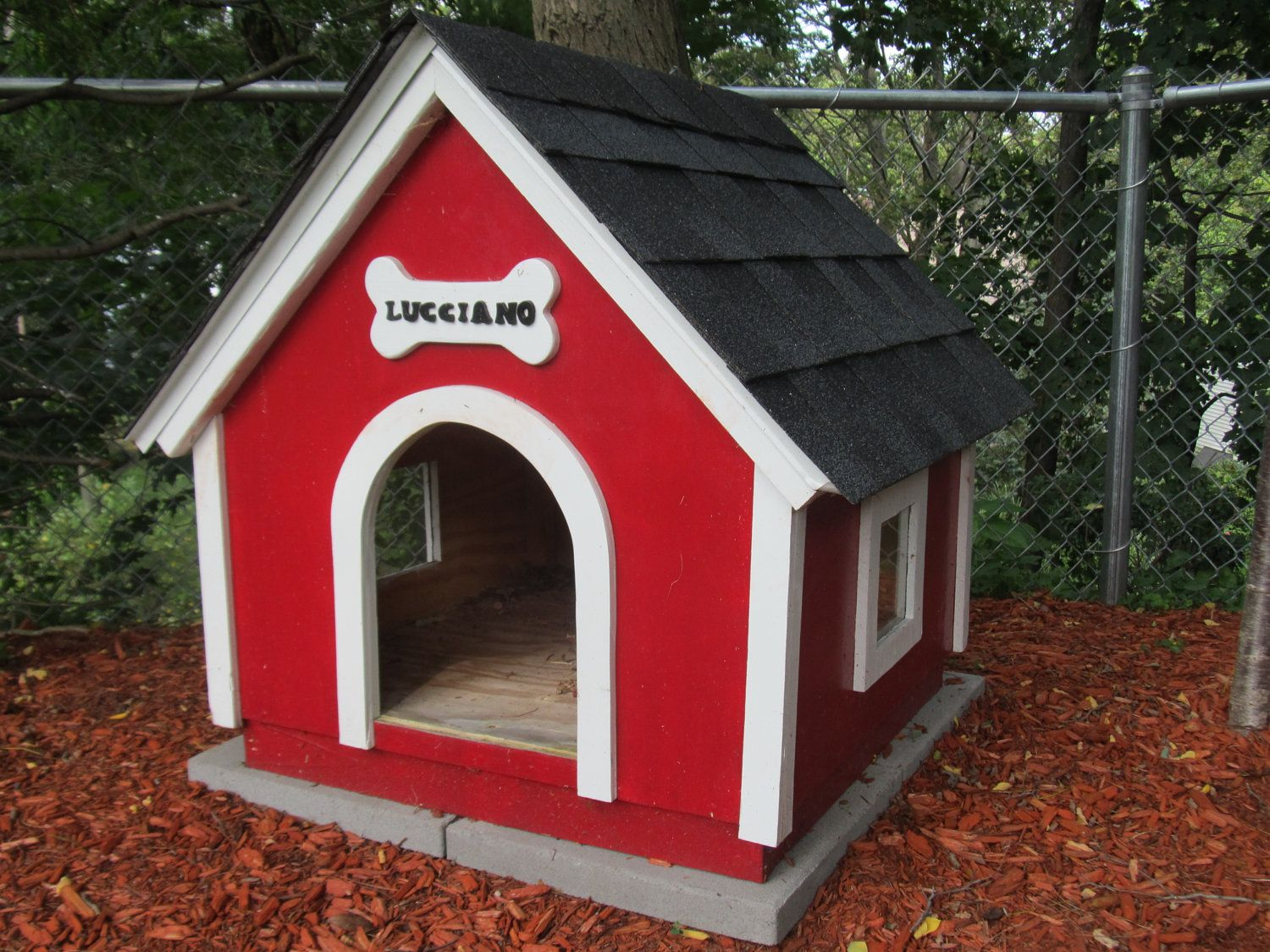 Handmade Wooden Dog Houses I Think You Could Make It 250 Seems