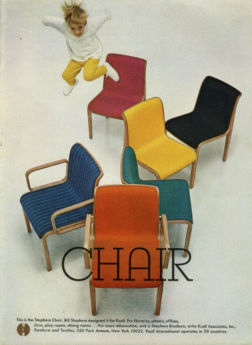 This Is The Stephens Chair From Knoll Associates Ad 1967 NY