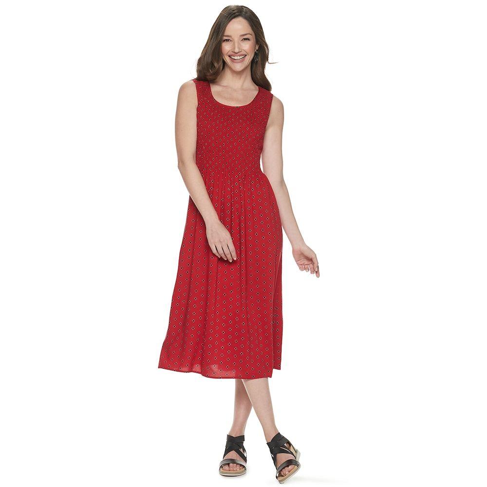 545ee439500 Women s Croft   Barrow® Print Challis Midi Dress