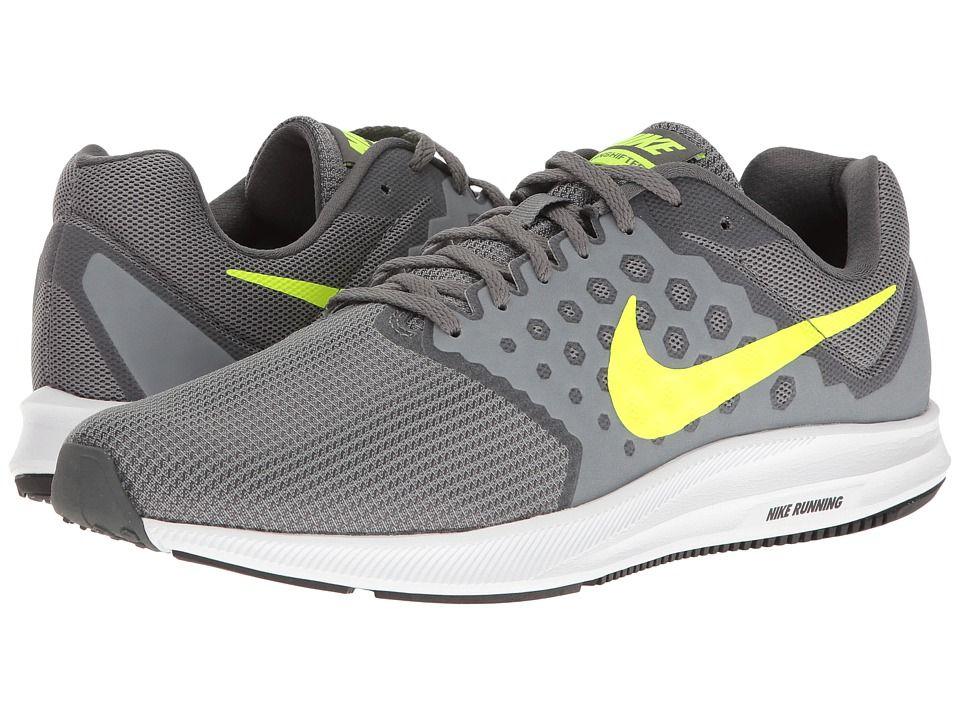 833ed7f9fe18 Nike Downshifter 7 (Cool Grey Volt Dark Grey White) Men s Running Shoes