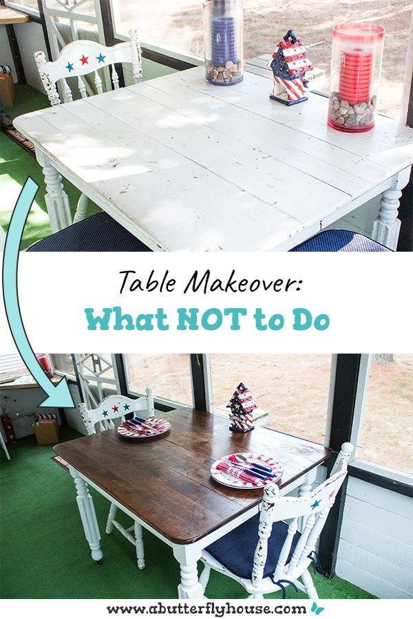 My table makeover was almost a disaster... Don't make my mistakes! #Furniture #FurnitureFlip