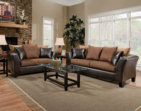Sierra Brown Couch And Loveseat Set