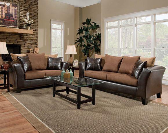 sierra chocolate sofa & loveseat #afpinspiredhome | my american
