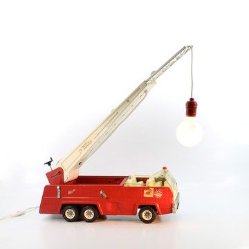 Great Fire Truck Lamp By Dog Tag Designs $304