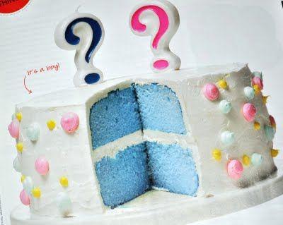 """gender reveal"" cake"