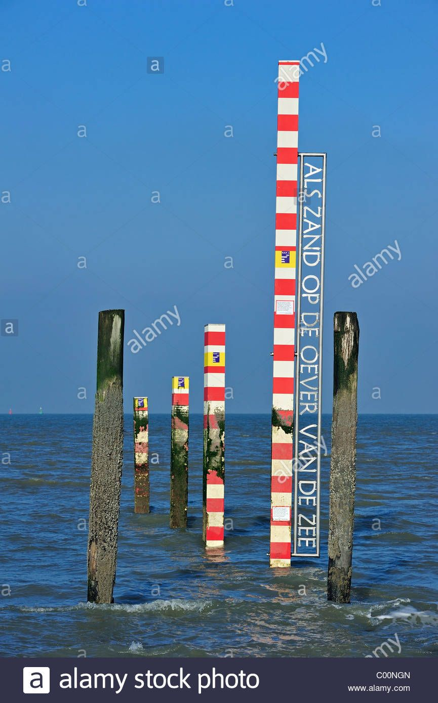 Sea tide depth measure water level gauge on beach at low tide sea tide depth measure water level gauge on beach at low tide zeeland nvjuhfo Gallery