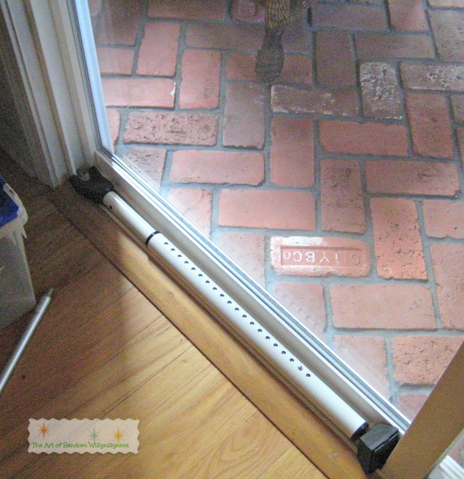 patio door security bar lock there is