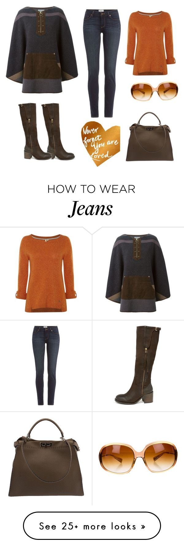 """""""Loved"""" by b-nieves on Polyvore featuring Kolor, Steve Madden, Paige Denim, White Stuff, Fendi and Oliver Peoples"""