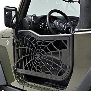 E Autogrilles Tubular Spider Web Doors With Mirror For 07 17 Jeep Wrangler Jk 2 Door Only Jeep Doors Jeep Gear Jeep Wrangler Jk