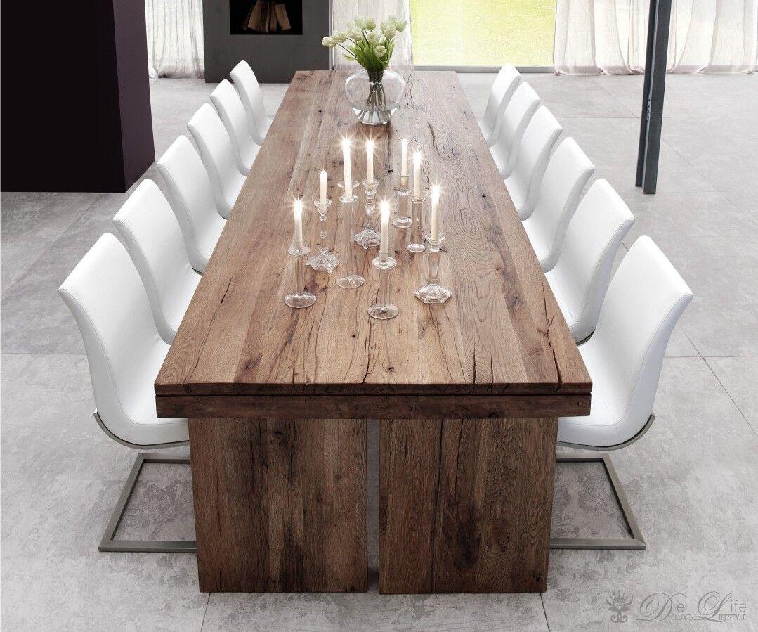 esstisch orpheus 300x120 cm verwittert eiche massiv vintage eichenholz in seiner schnsten form elegant