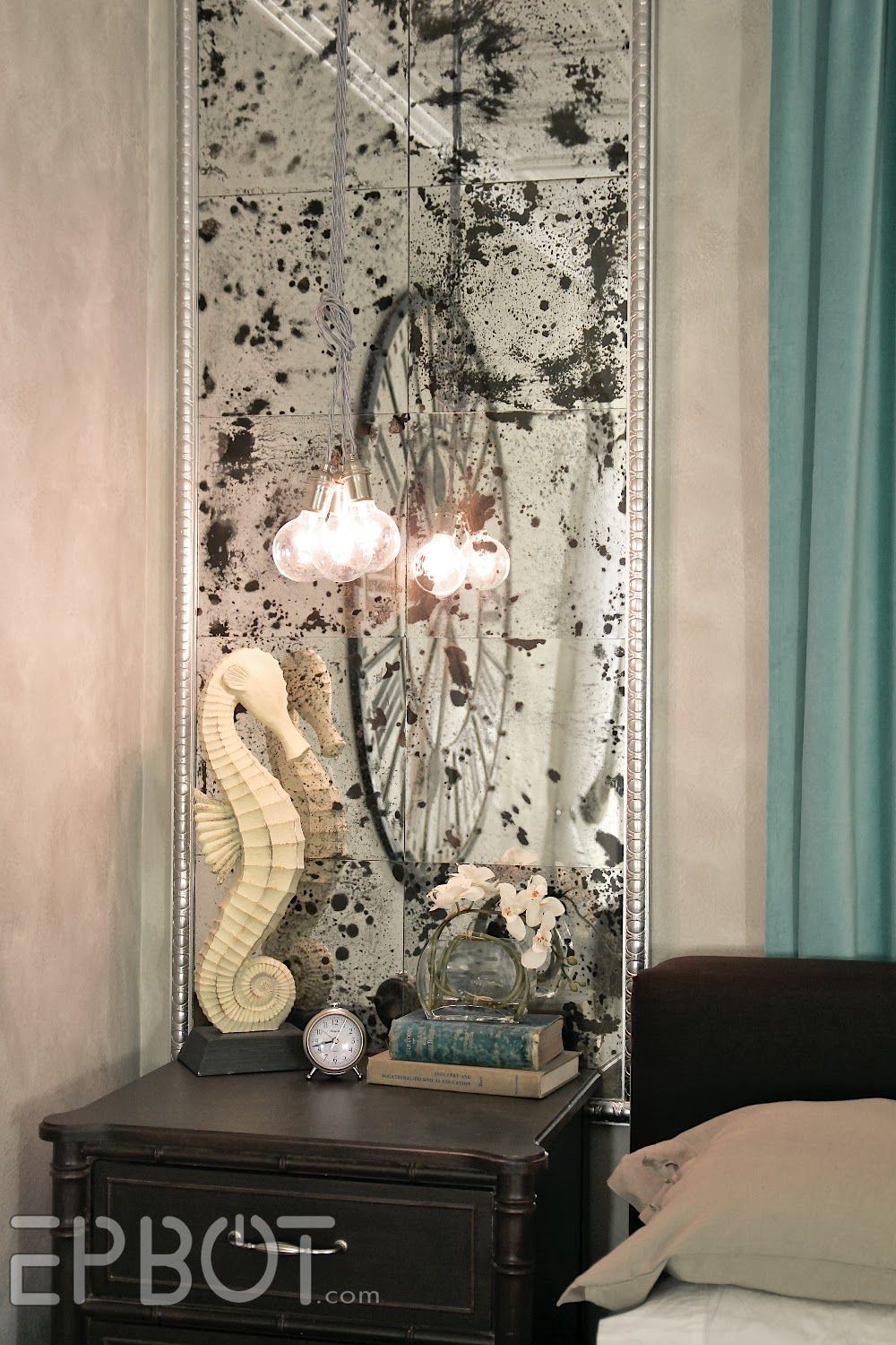 "Wall Mirror Panels epbot: diy antiqued mirror wall panels (or, ""fun with muriatic"