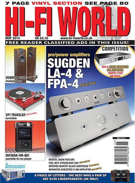 EnjoyTheMusic com just posted Hi-Fi World's May 2014 issue