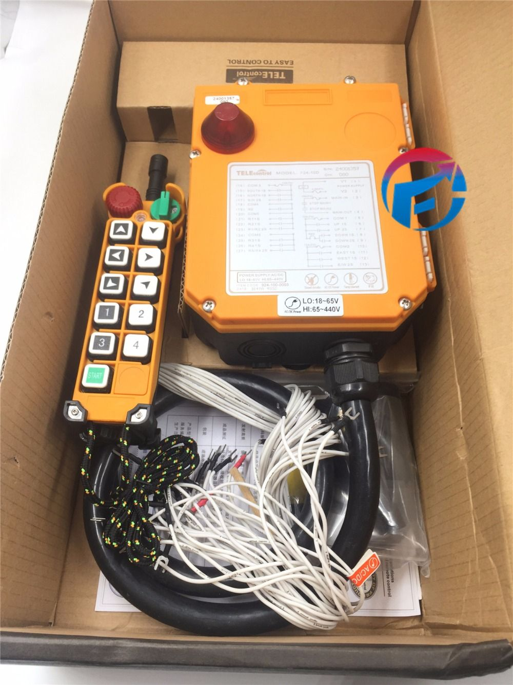 f24-10d 2 speed wireless remote control electric chain hoist crane  controller 1 transmitter + 2 receiver 18v