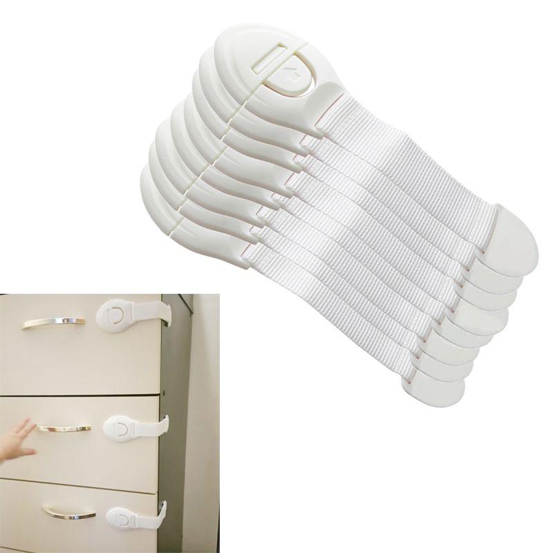 10ピース/パック新しいキャビネット扉引き出し冷蔵庫トイレ長く曲げやすい安全プラスチックロック用子供キッズベビー安全