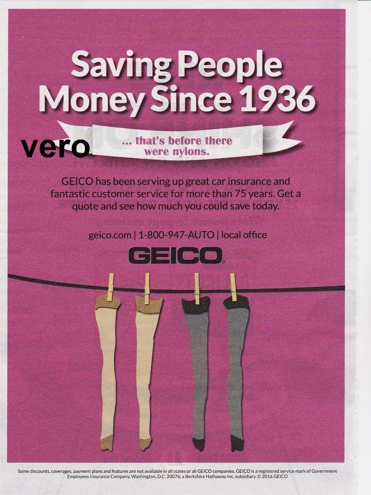 Geico Gecko Insurance Ad Art 2015 Magazine Print Nylons Stockings