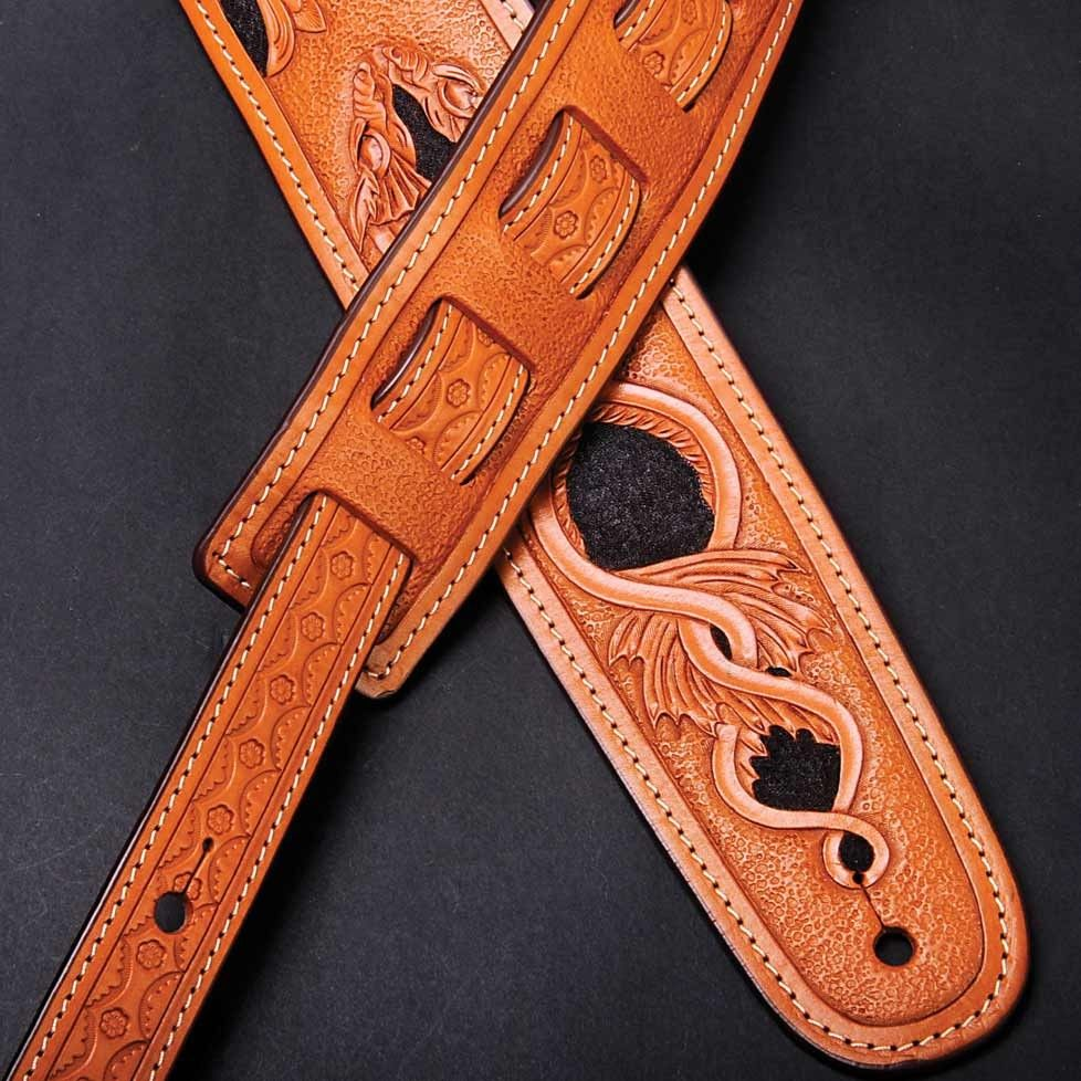 mousai leather craft guitar strap 009 cool custom leather leather guitar straps leather. Black Bedroom Furniture Sets. Home Design Ideas