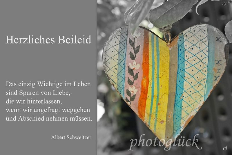 Beliebt Bevorzugt Trauer & Beileid - Trauerkarte Beileidskarte - ein Designerstück #VC_21