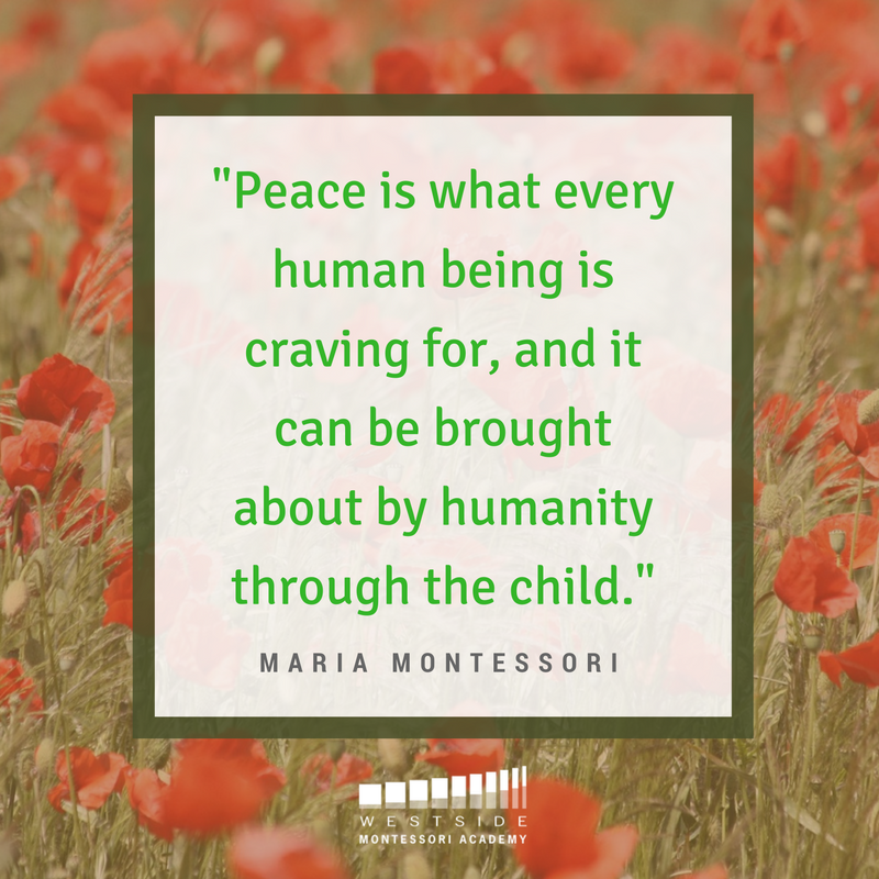 Peace Is What Every Human Being Is Craving For And It Can Be Brought About By Humanity Through The Child Maria Montessori Quotes Montessori Montessori Theory