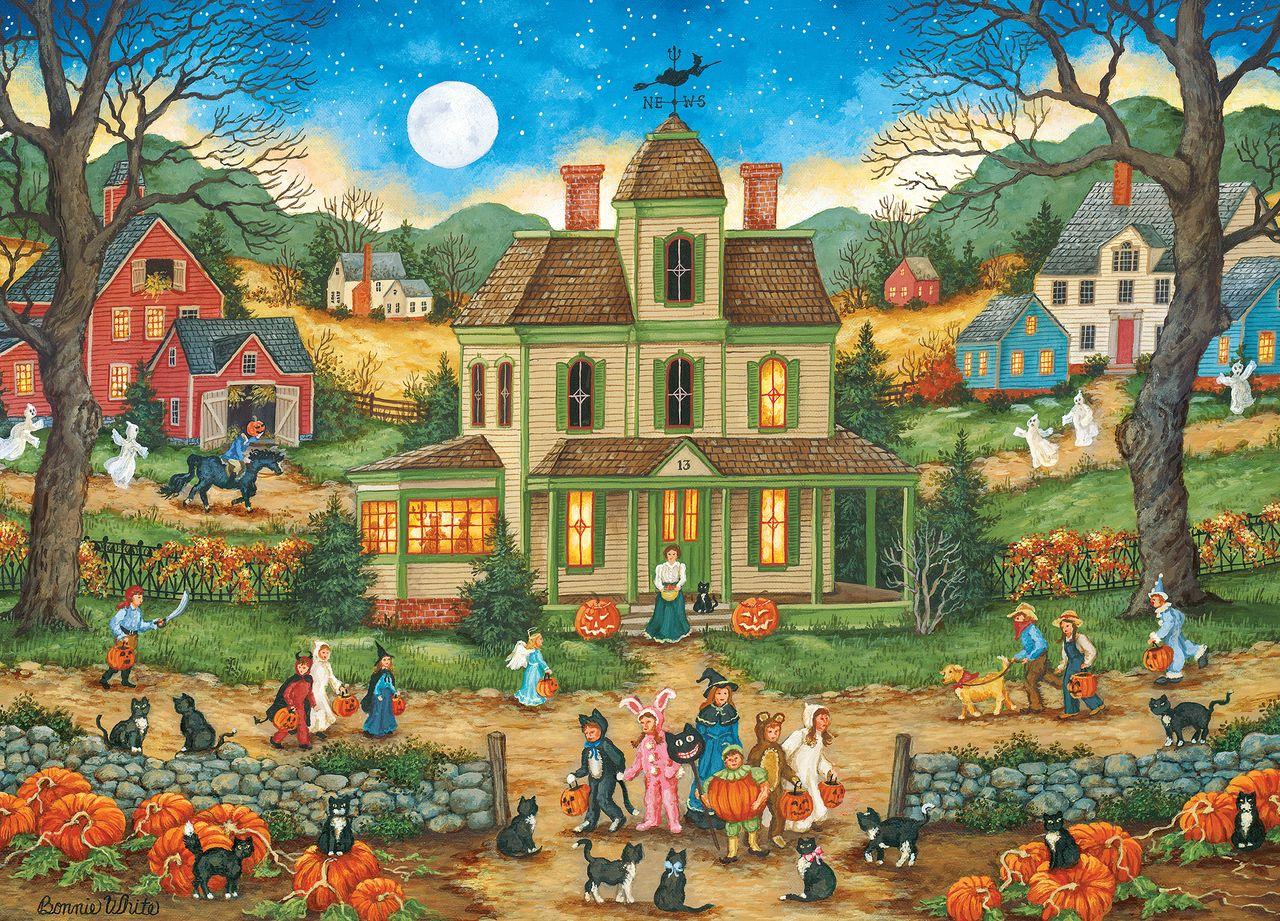 Halloween: Lucky Thirteen - 1000pc Jigsaw Puzzle by
