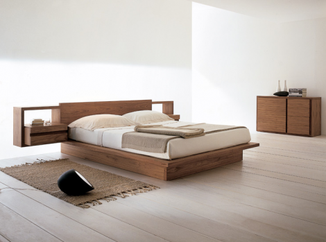 Simple Minimalist Natural Wood Bed Frame
