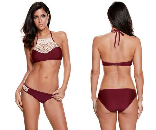 Now trending: Push Up Bikini Set Tassel Low Waist Swimsuit