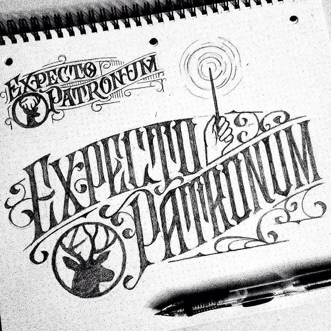 Love some harry potter. Type by @jonbensondesigns - #typegang - typegang.com   typegang.com #typegang #typography
