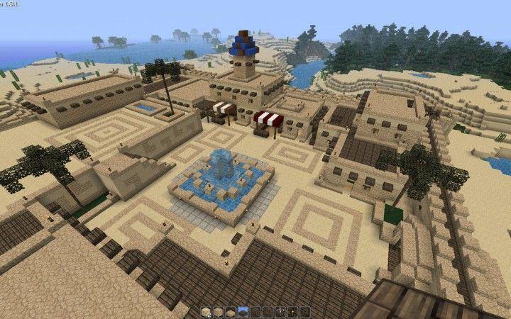 Minecraft desert town minecraft designs minecraft city