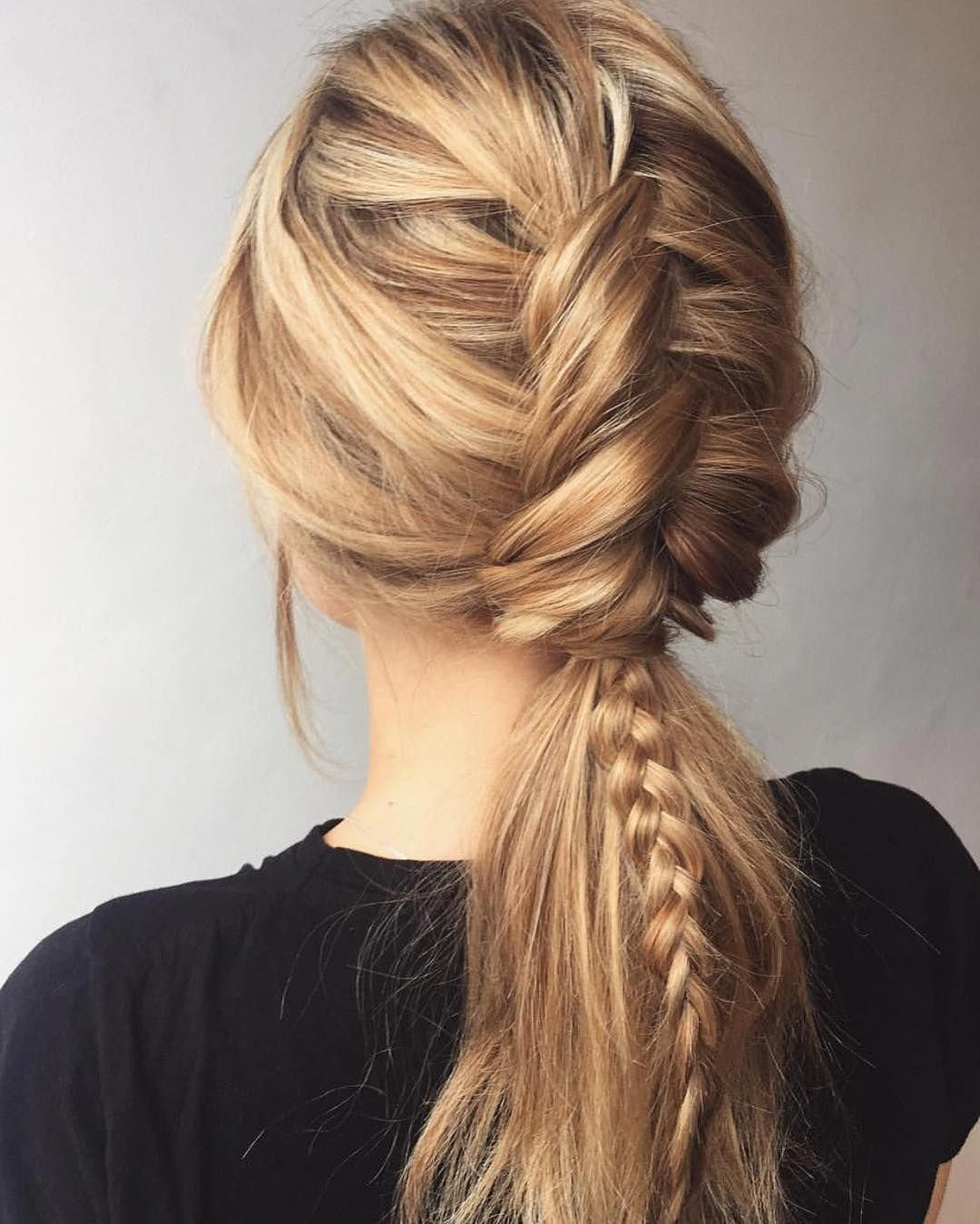 braid ponytail hairstyles for long hair, ponytail long hairstyle