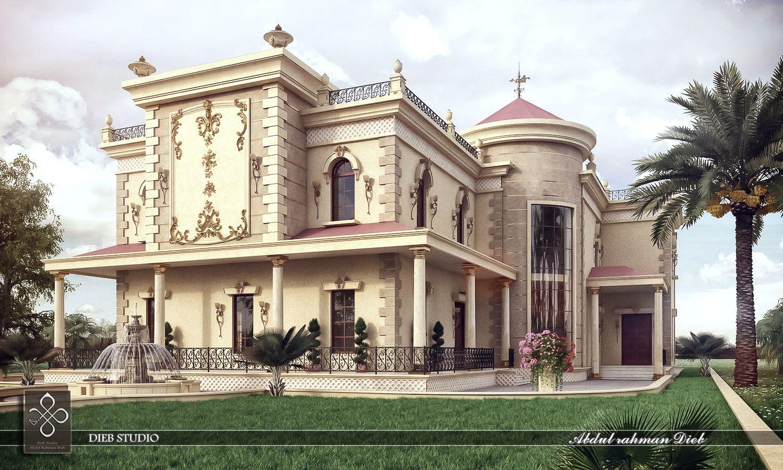 3d max villa classic 3dsmax villa pinterest villas for Villas 3d model