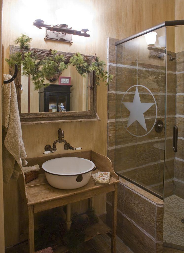 By Design Interiors Cowboy Theme Bathroom Rustic
