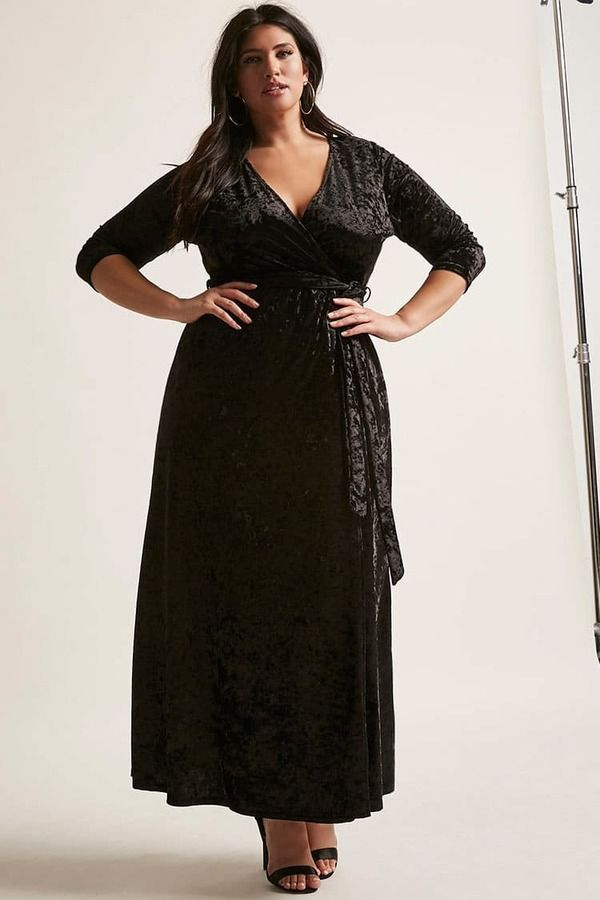 4b65aaf4ee8 FOREVER 21+ Plus Size Crushed Velvet Maxi Dress