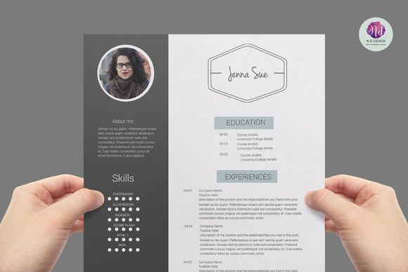 Professional resume package by Chic templates on Creative Market - free resume design templates