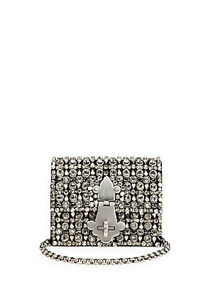 Dolce & Gabbana Small Crystal Clutch with Chain (=)