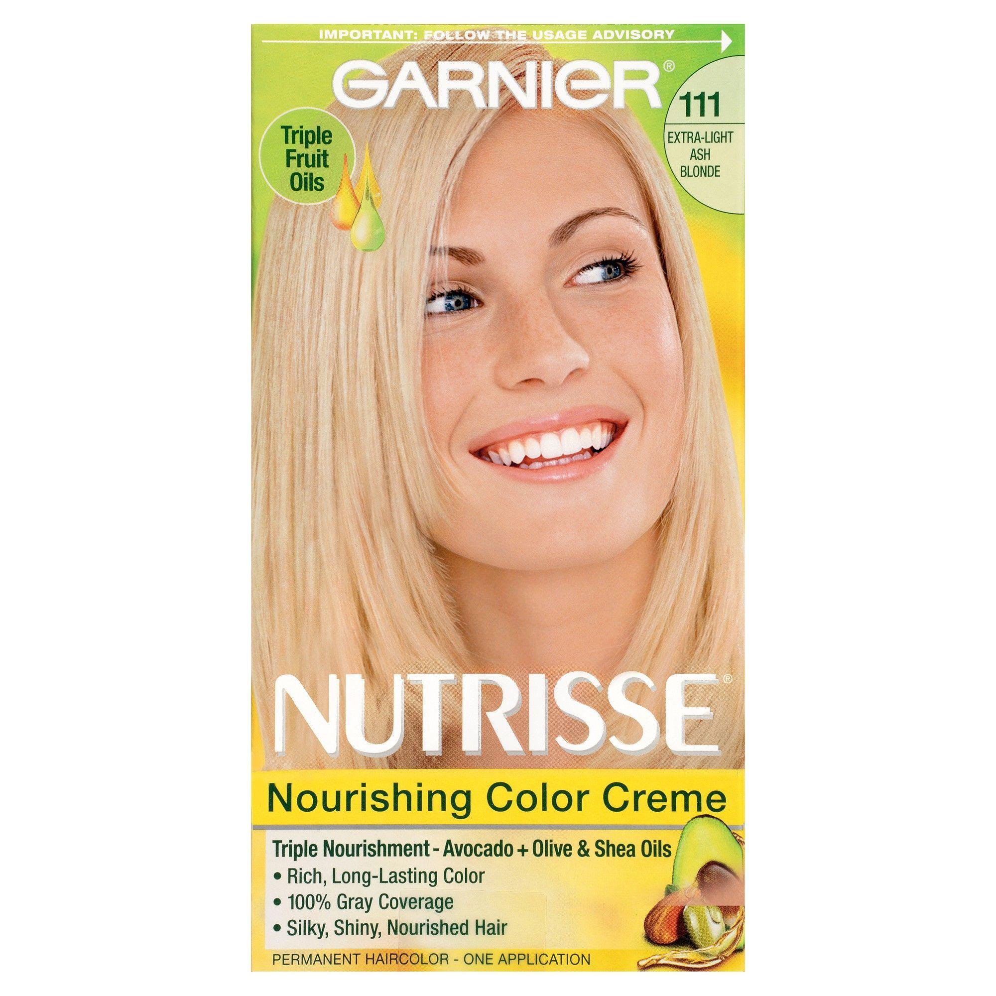 Garnier Nutrisse Nourishing Color Creme 111 Extra Light Ash Blonde