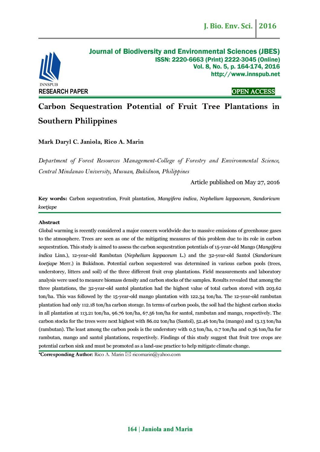 Pin On Journal Of Biodiversity And Environmental Sciences Jbes