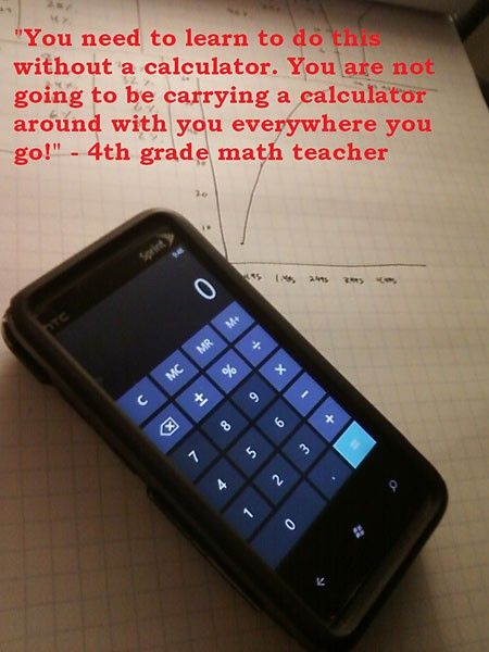 Me 1, Fourth Grade Teacher 0